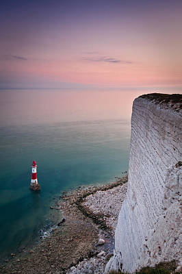 Photograph - Sunset At Beachy Head by Will Gudgeon