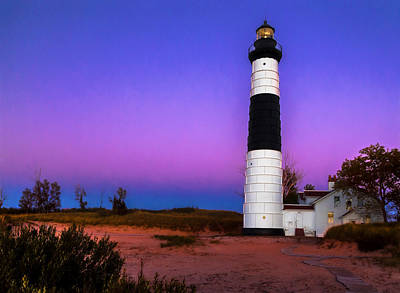 Photograph - Sunset At Big Sable Light 2 by Susan Rissi Tregoning