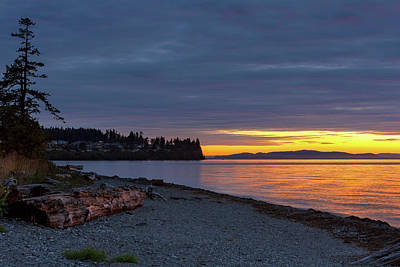 Photograph - Sunset At Birch Bay State Park by David Gn