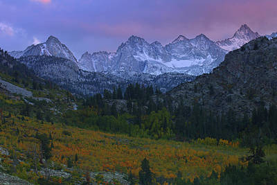 Photograph - Sunset At Bishop Canyon In The Eastern Sierras During Autumn by Jetson Nguyen