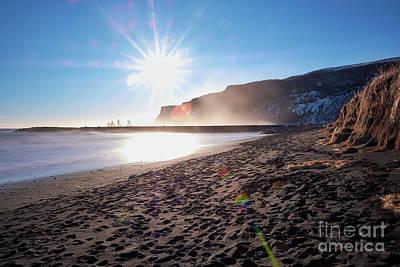 Photograph - Sunset At Black Sand Beach by Benjamin Wiedmann
