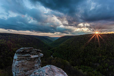 Photograph - Sunset At Blackwater Falls State Park by Amber Kresge