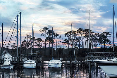 Photograph - Sunset At Bluewater Bay Marina, Florida by Kay Brewer