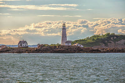 Photograph - Sunset At Boston Lighthouse by Brian MacLean
