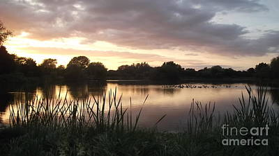 Photograph - Sunset At Bourton Lake by John Williams