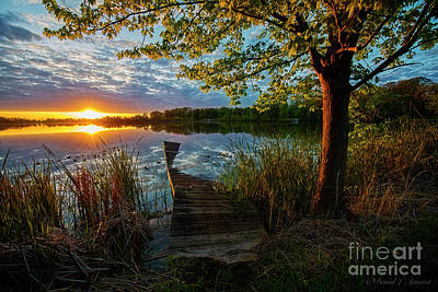 Photograph - Sunset At Broken Dock by David Arment
