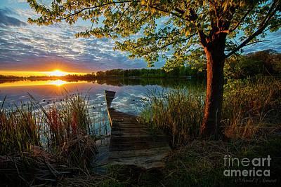 Photograph - Sunset At Broken Dock by David Arment