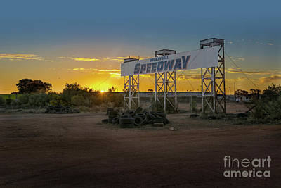 Photograph - Sunset At Broken Hill Speedway by Stuart Row