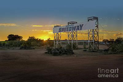 Photograph - Sunset At Broken Hill Speedway by Stuart Row