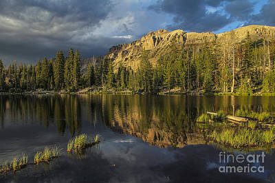 Sunset At Butterfly Lake Art Print