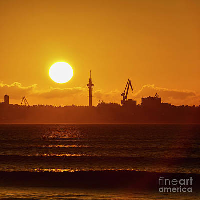Photograph - Sunset At Cadiz Bay Puerto Real Spain by Pablo Avanzini