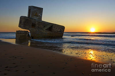 Photograph - Sunset At Camposoto Beach San Fernando Cadiz Spain by Pablo Avanzini