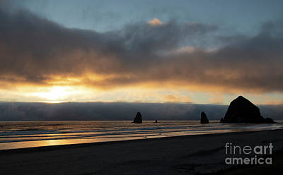 Photograph - Sunset At Cannon Beach by Sandra Bronstein