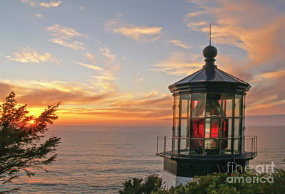 Photograph - Sunset At Cape Meares by Tim Moore