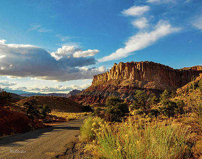Sunset At Capitol Reef Art Print