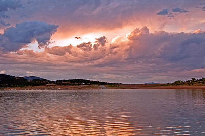 Sunset At Carter Lake Colorado Art Print