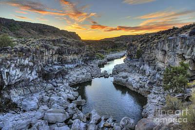 Photograph - Sunset At Cauldron Linn by Spencer Baugh