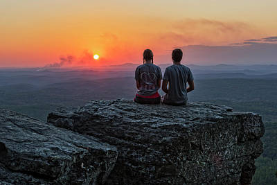 Photograph - Sunset At Cheaha Overlook by Jim Vallee