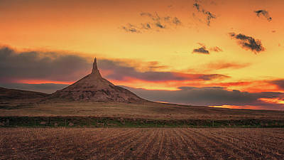 Photograph - Sunset At Chimney Rock by Susan Rissi Tregoning