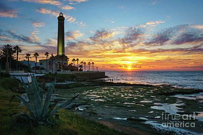 Photograph - Sunset At Chipiona Lighthouse Cadiz Spain by Pablo Avanzini