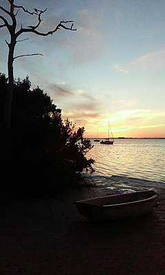 Photograph - Sunset At Chrystal Beach by R  Allen Swezey