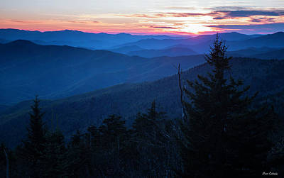 Photograph - Sunset At Clingmans Dome by Fran Gallogly
