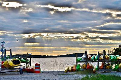 Photograph - Sunset At Coastal Kayak by Kim Bemis