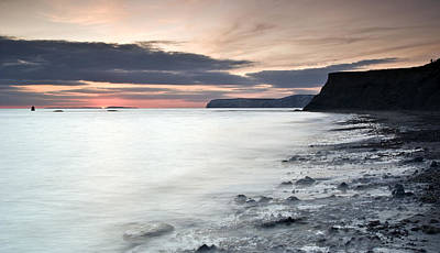Summer Squall Photograph - Sunset At Compton Bay by Michael Stretton