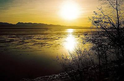 Sunset At Cook Inlet - Alaska Art Print by Juergen Weiss