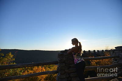 Photograph - Sunset At Coopers Rock With Woman  by Dan Friend