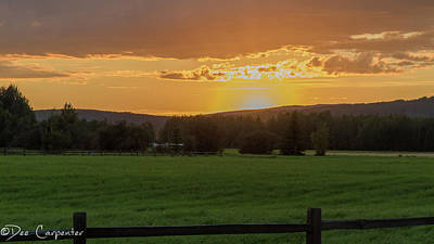 Photograph - Sunset At Creamer's Field by Dee Carpenter