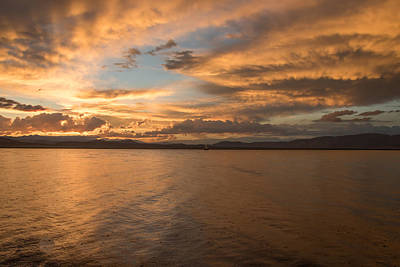 Photograph - Sunset At Crowley Lake - 1 by Phil Stone
