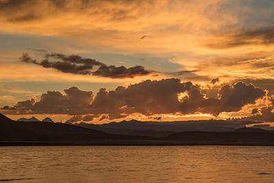 Photograph - Sunset At Crowley Lake - 2 by Phil Stone