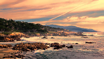 Photograph - Sunset At Cypress Point  by Susan Rissi Tregoning