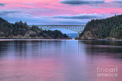 Whidbey Island Wa Photograph - Sunset At Deception Pass by Adam Jewell