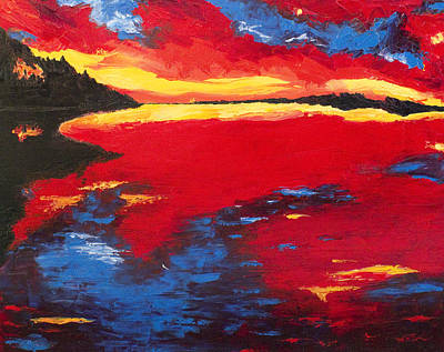 Sunset At Degray Art Print by Beth Lenderman