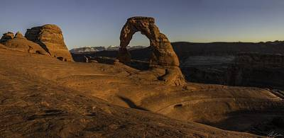 Photograph - Sunset At Delicate Arch by Owen Weber