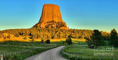 Photograph - Sunset At Devils Tower by Adam Jewell