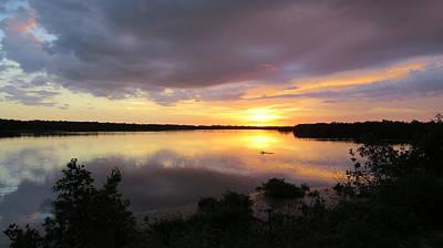 Photograph - Sunset At Ding Darling by Melinda Saminski