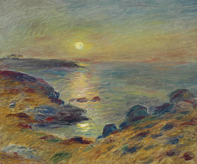 Painting - Sunset At Douarnenez by Auguste Renoir