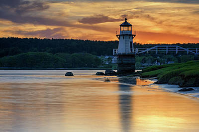 Photograph - Sunset At Doubling Point Lighthouse by Rick Berk