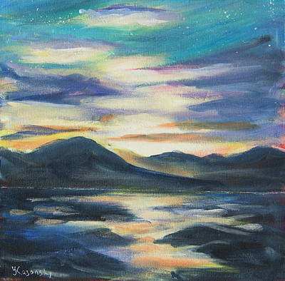 Painting - Sunset At Eagle Beach Alaska by Yulia Kazansky