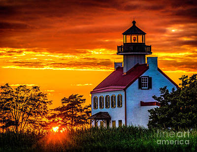 Photograph - Sunset At East Point Light by Nick Zelinsky