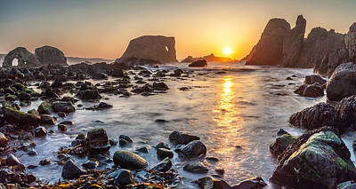 Photograph - Sunset At Elephant Rock by George Pennock