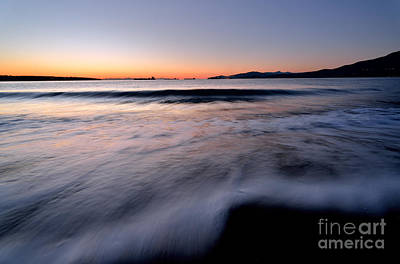 Photograph - Sunset At English Bay Vancouver British Columbia by Terry Elniski