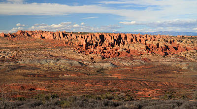 Photograph - Sunset At Fiery Furnace In Arches National Park by Pierre Leclerc Photography