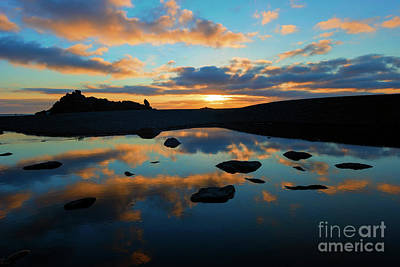 Photograph - Sunset At Fogarty Creek by Mike Dawson