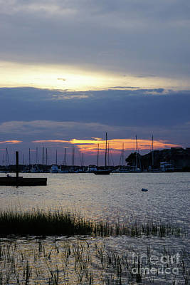Photograph - Sunset At Folly Harbor by Jennifer White