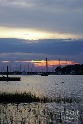 Photograph - Sunset At Folly Harbor by Jennifer White
