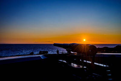 Photograph - Sunset At Fort Casey by TL  Mair
